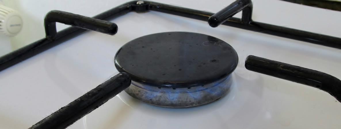 Kuchynsky plynovy sporak - detail plynovy horak